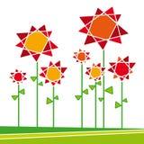 вектор 01 flores Стоковые Фото