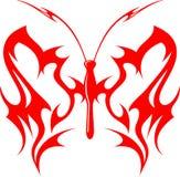 вектор 10 бабочек пламенеющий соплеменный Стоковые Изображения