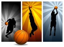 вектор 2 баскетболистов Стоковое Изображение RF