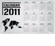 вектор 2011 календара Стоковое Фото