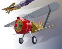 вектор 30 самолет-истребителей ретро s Стоковые Фотографии RF