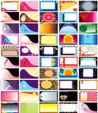 вектор 50 карточек горизонтальный Стоковое Изображение RF