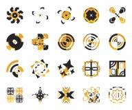 вектор 6 икон элементов Стоковые Изображения RF