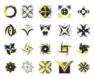 вектор 7 икон элементов Стоковые Изображения RF