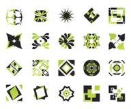 вектор 9 икон элементов Стоковое Изображение