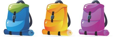 вектор backpacks Стоковые Фотографии RF