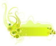 вектор baner зеленый Стоковое Изображение
