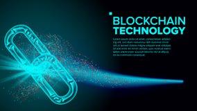 Вектор Blockchain Интернет цепи сети связи Платформа развития средств программирования иллюстрация иллюстрация штока