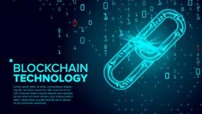 Вектор Blockchain Технология глобальной вычислительной сети Имущество цифров Концепция дела сотрудничества иллюстрация бесплатная иллюстрация