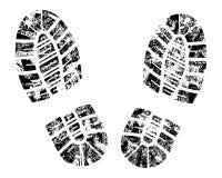 вектор bootprint Стоковые Изображения RF