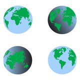 Вектор 3d голубой земли установленный Стоковое Фото