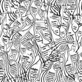 вектор darwin безшовный Стоковая Фотография RF