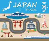 Вектор Desi Infographic перемещения и путешествия ориентир ориентира Японии глобальный бесплатная иллюстрация
