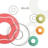 вектор donuts Стоковые Изображения