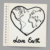 Вектор doodle влюбленности земли Стоковая Фотография RF