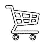 Вектор Doodle значка магазинной тележкаи EPS8 Стоковая Фотография