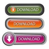 вектор download кнопок Стоковые Фотографии RF