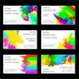 вектор editable формы визитной карточки установленный Стоковые Изображения RF