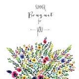 вектор eps карточки флористический включенный Красочное флористическое знамя с Стоковое Изображение