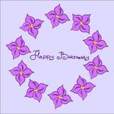 Вектор EPS 10 дня рождения открытки Стоковые Фото