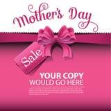 Вектор EPS 10 предпосылки продажи дня матерей Стоковое Изображение