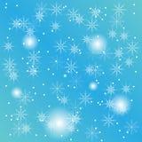 Вектор eps10 предпосылки снежинок рождества Стоковые Фото