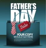 Вектор EPS 10 предпосылки хозяйственной сумки продажи дня отцов Стоковое Изображение RF