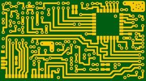 вектор eps8 цепи предпосылки электронный зеленый Стоковая Фотография RF