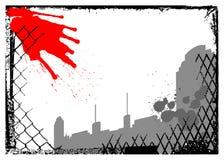 вектор grunge города урбанский Стоковые Изображения