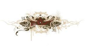вектор grunge знамени декоративный Стоковое Фото