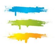 вектор grunge знамен цветастый Стоковые Изображения RF