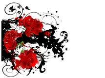 вектор grunge предпосылки флористический иллюстрация штока