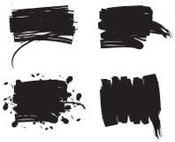 вектор grunge установленный Стоковые Фото