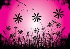 вектор grunge цветка Стоковая Фотография