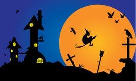 вектор halloween карточки предпосылки пугающий Стоковая Фотография RF