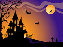 вектор halloween предпосылки Стоковые Изображения RF