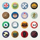 вектор halloween установленный иконами Стоковые Фото