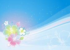 вектор hibiscus букета Стоковые Изображения RF