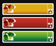 вектор horizontall 3 знамен осени Стоковое Изображение RF