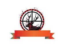 вектор hunt оленей знамени Стоковая Фотография RF