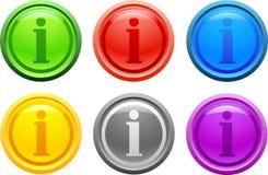 вектор info кнопки Стоковые Изображения