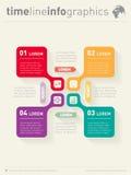 Вектор infographic с значками Шаблон сети для диаграммы Бизнес Стоковая Фотография RF