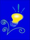 вектор lightbulb принципиальной схемы Стоковые Фотографии RF