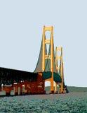 вектор machinac моста Стоковые Фото