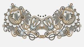 вектор neckline иллюстрации способа вышивки Стоковые Изображения RF
