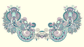 вектор neckline иллюстрации способа вышивки Стоковое Фото