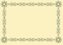 вектор oriental рамки Стоковая Фотография RF