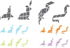 вектор origami Стоковая Фотография