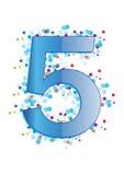 вектор ornamental числа 5 бесплатная иллюстрация
