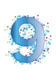 вектор ornamental числа 9 иллюстрация вектора